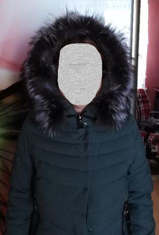 Зимнее женское пальто (холлофайбер)+шапка тёплая