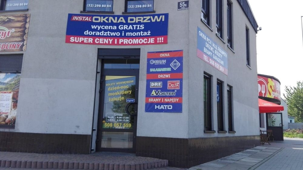 Drzwi Balkonowe PCV Białe z ruchomym słupkiem, IDEAL7000 PREMIUM 3szyb Sosnowiec - image 1