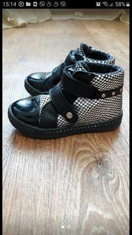 Кожаные ботинки bartek для девочки,24 размер