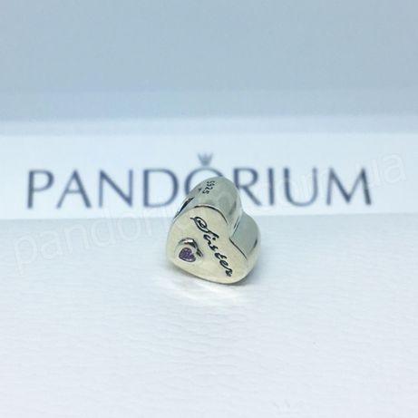 """Шарм PANDORA """"Любимой сестре"""" в фирменной упаковке!"""