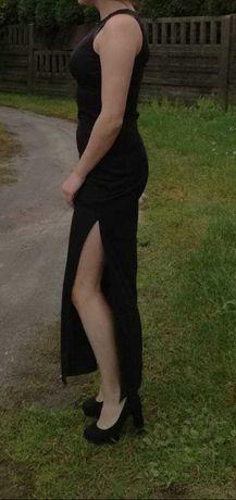 Czarna długa sukienka LES Folies D'HARRY roz.38