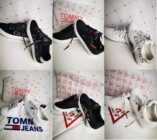 Trampki buty Tommy Guess 36-41 logowane pudełko Premium