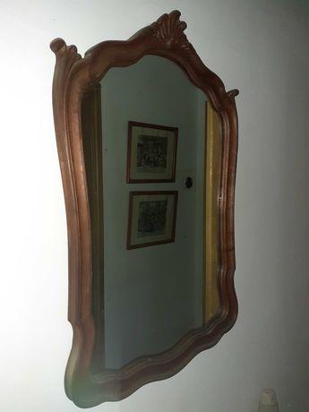 Espelho de madeira estilo romantico