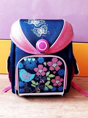 Ортопедический каркасный рюкзак, портфель YES для девочки