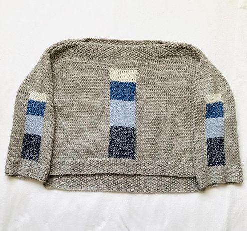 Серый кофейный свитер ручной работы Hand Made