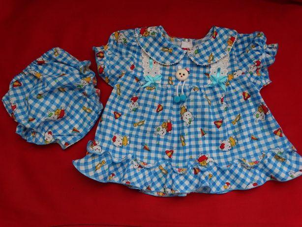 Платье с трусиками на 6-9 мес., платьице на лето (сукня, платтячко)