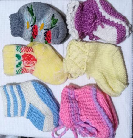 Детские пинетки, носочки от 0 до года