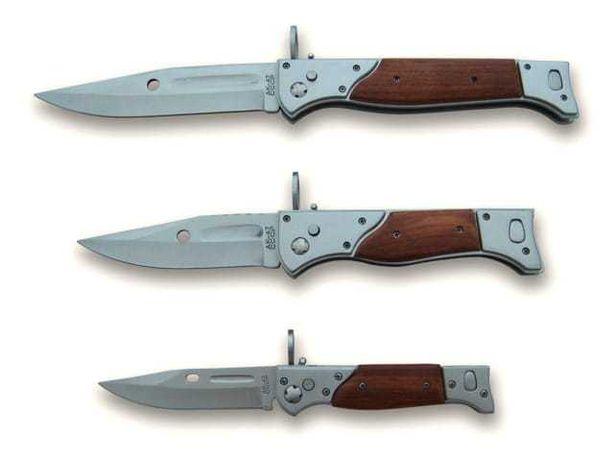 Zestaw 3 bagnetów noży sprężynowych składanych AK47 N717