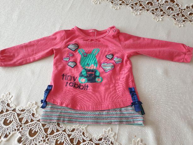 Dziewczęca bluza niemowlęca Coccodrillo w rozmiarze 74