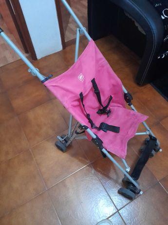 Carinho de bebê rosa da zippy