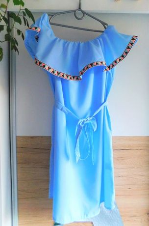 Śliczna sukienka hiszpanka boho r. S/36 Nowa!