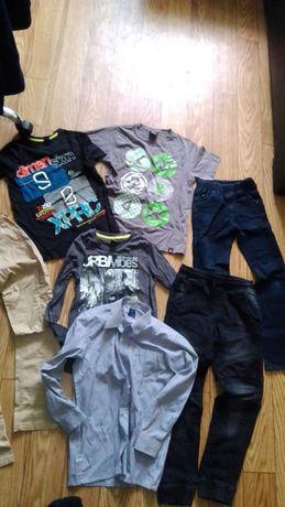 Zestaw odzieży dla chłopca 134 ciuchy 140 nowe Paka paczka Gratis buty
