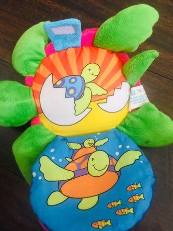 Итальянская Игрушка мягкая книжка черепаха Belino