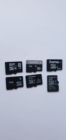 Micro SD Toshiba Kingston 8 gb