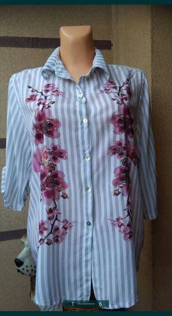 Bluzka koszulowa By O La La oversize plus size nowa 44,46,48