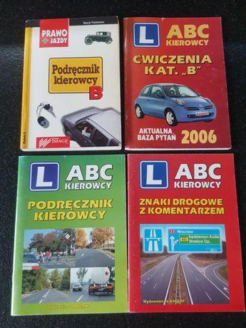 4 szt. Podręcznik kierowcy kat. B - M. Próchniewicz, Znaki drogowe