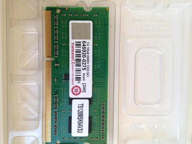 Memória RAM para portátil DDR3 1333 1GB