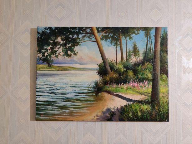 """Картина маслом """"Сосновый лес"""""""