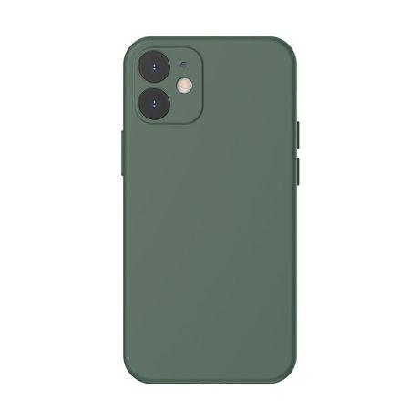 Capa Silicone Baseus Iphone 12 Mini - Verde Escuro
