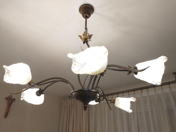 Żyrandol, lampa stojąca, lampka