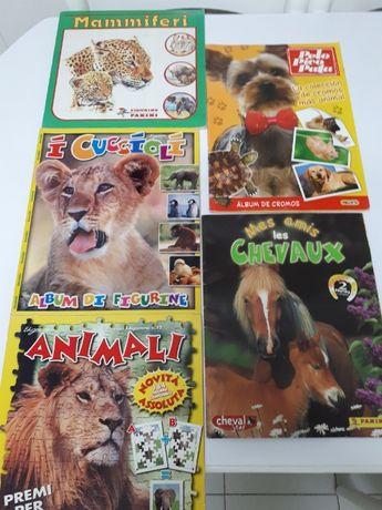 Cadernetas de cromos Animais Colecções completas