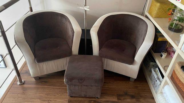 Fotele Franco + Pufa otwierana Agata Meble