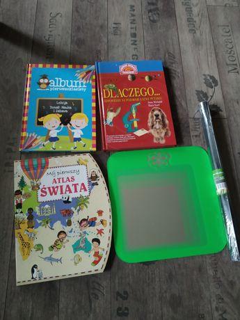 Książki dla dzieci, lustro, tapeta do kredy