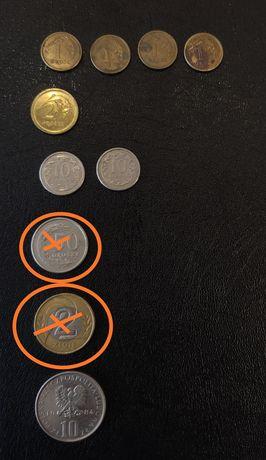 Монети Польщі різні.