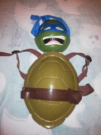 Strój Żółwi Ninja Leonardo maska+skorupa