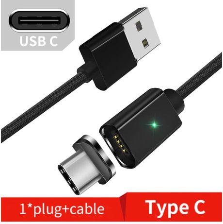 Kabel magnetyczny USB typu C 2m 3A czarny