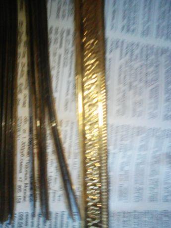 Планка декоративная под золото