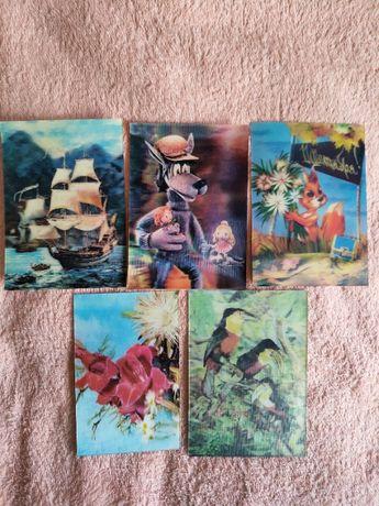 Стерео открытки переливные советские СССР 1 сентября цветы корабрь