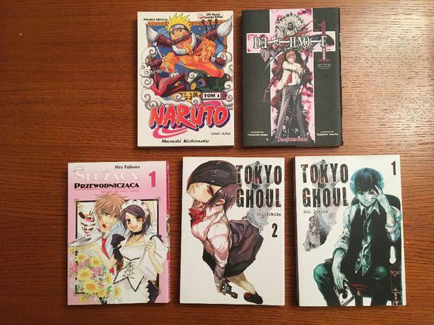Mangi Naruto, Death Note, Tokyo Ghoul, Służąca przewodnicząca