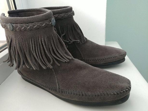Minnetonka 9/40р 25,5см замшевые ботинки сапожки полусапоги
