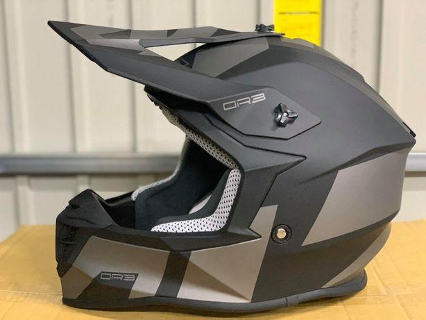 Kask motocyklowy cross lazer OR3 ROCKY czarno szarys M L NOWY FV