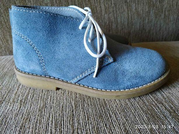 Ботинки замш/кож 18 см