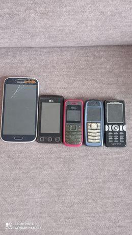 Telefony komórkowe GSM różne uszkodzone przesyłka w cenie