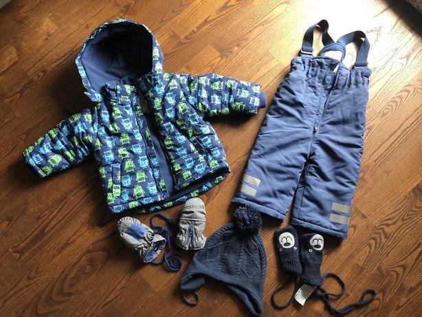 Zestaw na zimę kurtka, spodnie, czapka i rękawiczki Cool Club roz 74