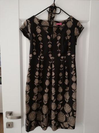 Czarna sukienka ciążowa w kwiaty roz. S Happymum