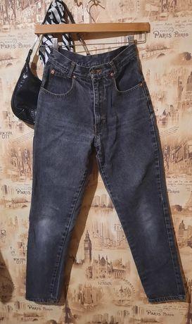 серые винтажные винтаж мом джинсы