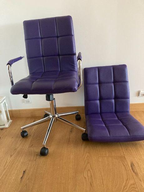Fotel obrotowy młodzieżowy Gonzo 2 fioletowy -nowa niższa cena