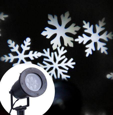 Лазерний проектор SNOW LED вуличний СНІЖИНКИ БІЛІ ХІТ 2020