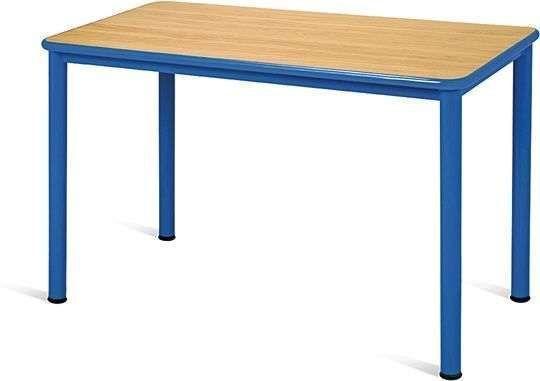 Mesa escolar 1200x600xA.410x480x610x750mm Estrutura aço Tampo Melamina