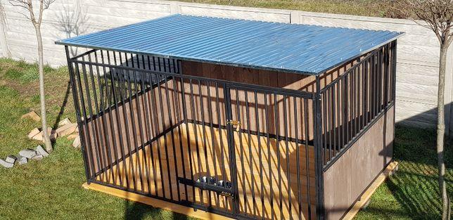 Kojec zabudowany drewnem. Kojce dla psów. 3x2m lub inne. Schowki,Wiaty