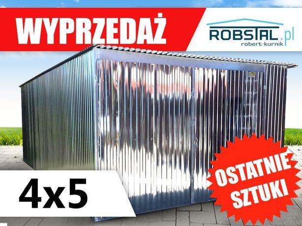 Garaż blaszak 4x5 ocynkowany producent garaże blaszane wiaty kojce