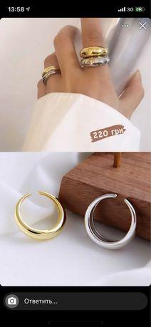 Кольцо в серебре бижутерия