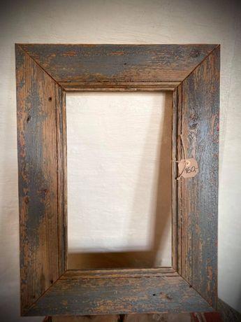 Rama / Ramka na obrazy i zdjęcia ze starego drewna Rękodzieło 50x67 cm