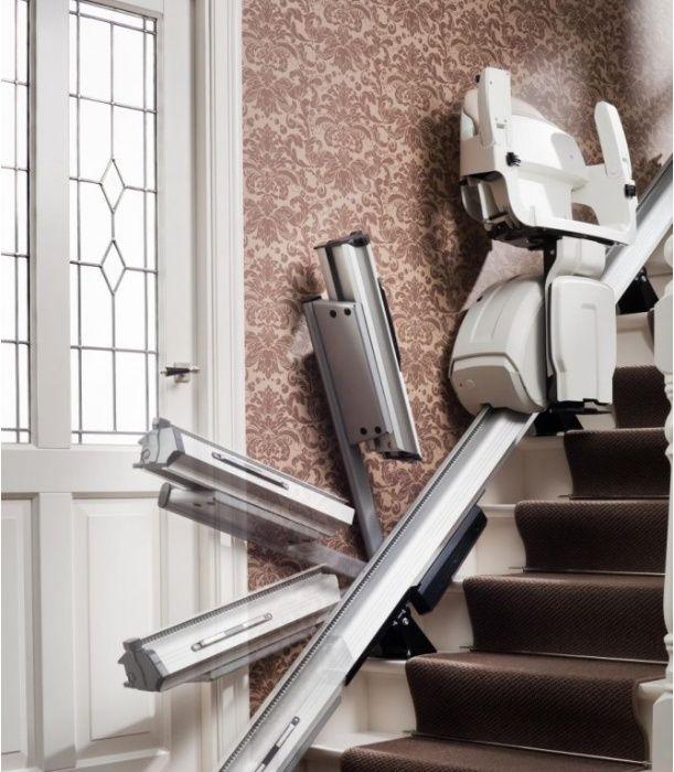Winda schodowa, krzesełko schodowe ODCHYLANY TOR / UNOSZONA SZYNA !!!