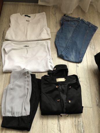Ubrania paczka bluzki spodnie sukienka marynarka