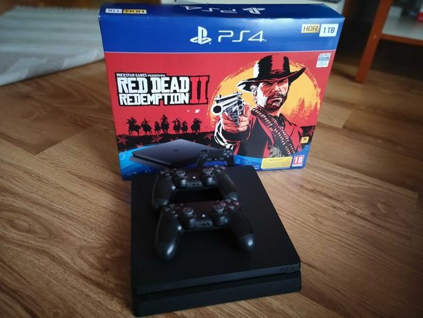 Konsola Ps4 Slim 1tb + 5 gier
